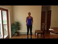CHAIR ENDURANCE CHALLENGE w/ ANGELICA // HOME WORKOUT + NO EQUIPMENT