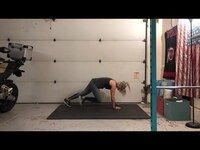 GARAGE SWEAT SESSION w/ RACHEL // HOME WORKOUT + NO EQUIPMENT
