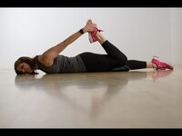 Prone Quad Stretch • Summer SandBell Strength Circuit | 24 Hour Fitness